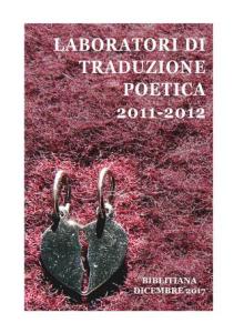 copertina libro laboratori traduzione poetica