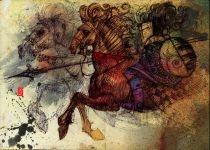 """""""Cavaliere errante"""", disegno di Alessandro Andreuccetti"""
